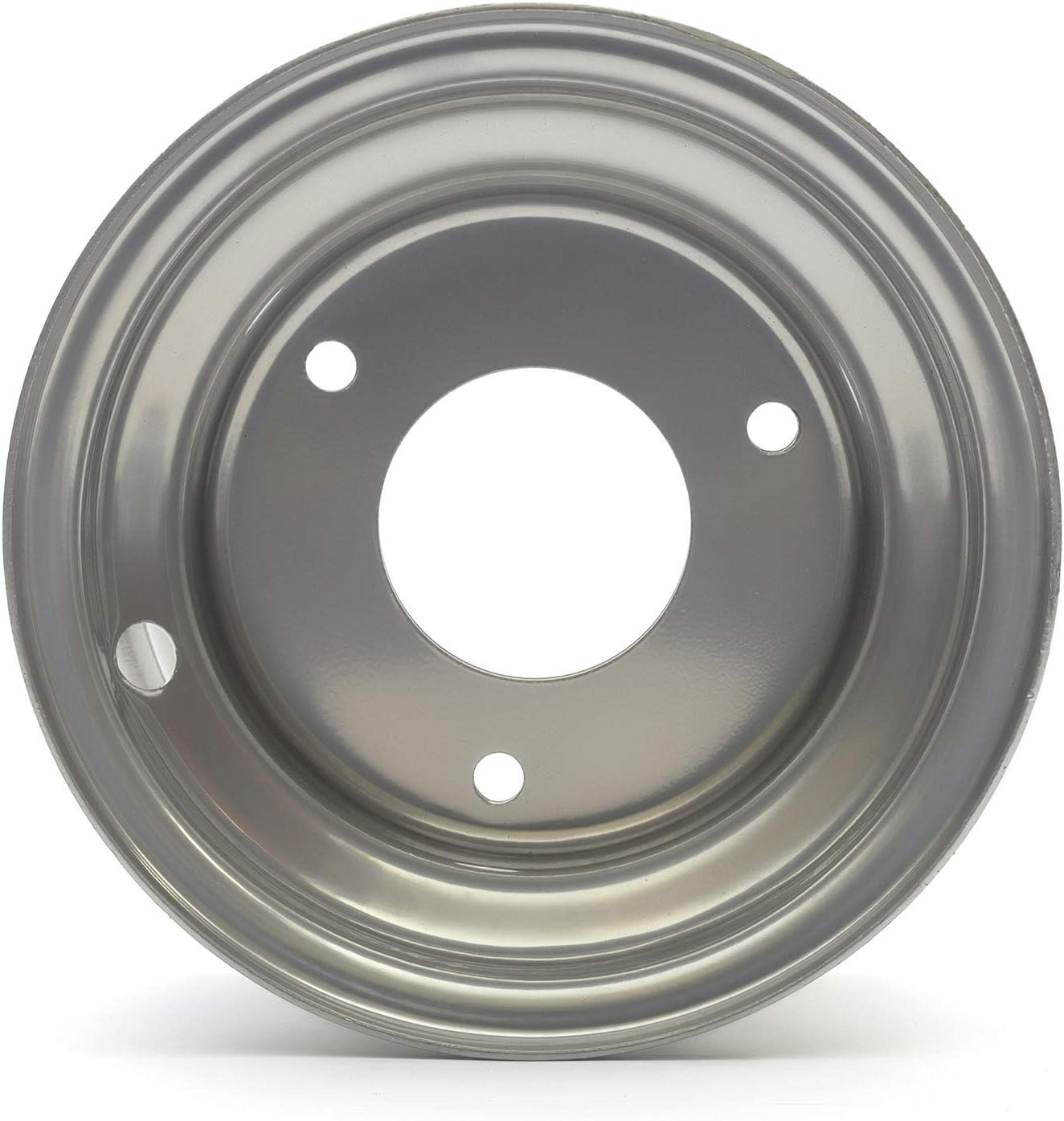 Roue en acier argent/ée pour poussettes 50 cc 70 cc 90 cc convient aux pneus de taille 145 x 70-6 trou central 54 mm