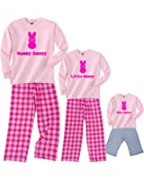 Pink Bunny Matching Pajamas for Adults & Kids Playwear - Mommy, Little or Baby Bunny