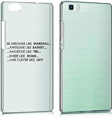 Funda para todos los smartphones Huawei p8 p8 Lite p9 p9 Lite p10 p10 Lite p10 Plus P30 P30 PRO P30 Lite- How I Met Y M con protección de la cámara