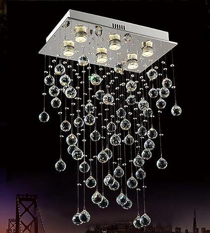 Lamparas de techo de cristal Moderna lámpara de cristal ...
