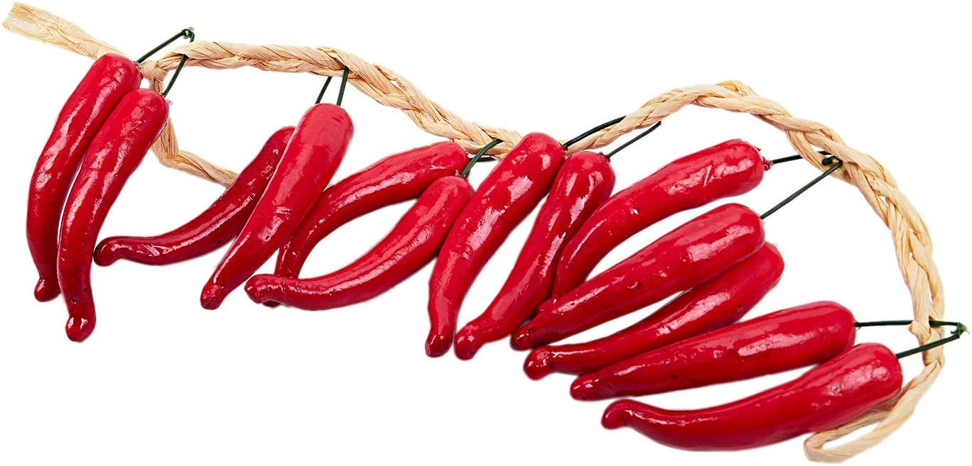 EudoER Lot de 50 Piment Rouge Artificiel r/éalistes pour d/écoration de Cuisine