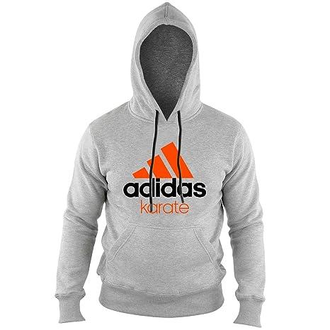 adidas Community Hoodie Karate Unisex Gray Orange Size XS  Amazon.co.uk   Clothing 1ccc127e49