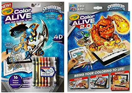 Amazon.com: Crayola Color Alive Skylanders Interactive Action ...