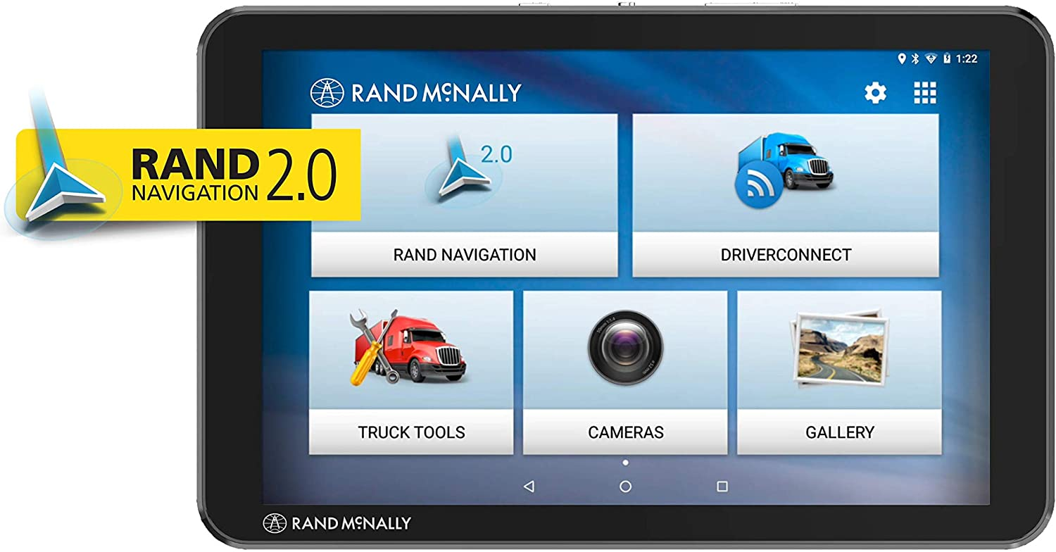 Rand McNally TND Tablet 85 Truck GPS with Built-in Dash Cam, Rand 2.0 Navigation and Lifetime Maps