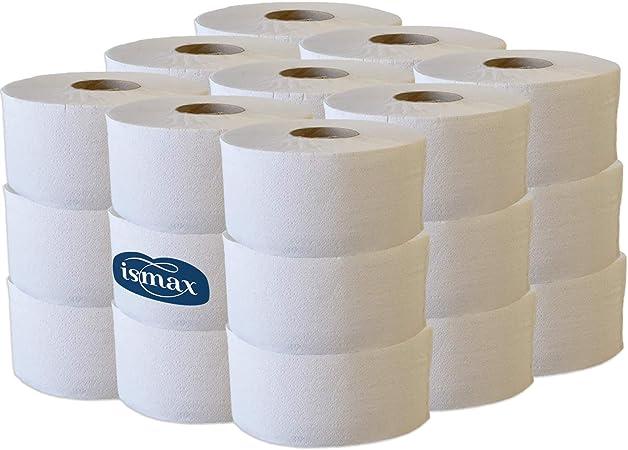 Ismax Rollos Papel Higiénico Industrial Eco Reciclado Baño WC Pack ...