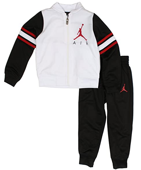 Nike Air Jordan Boys Tricot Tracksuit Jacket & Pants Set (White/Black, ...