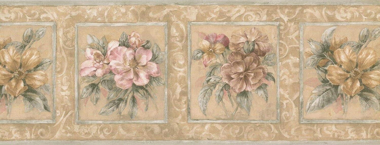 HB75708LL Floral Wallpaper Border 9 x 15