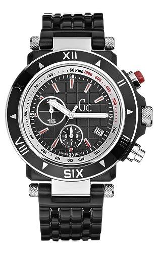Guess Collection GC SE-1 46000G1 - Reloj analógico de mujer de cuarzo con correa de acero inoxidable negra: Amazon.es: Relojes