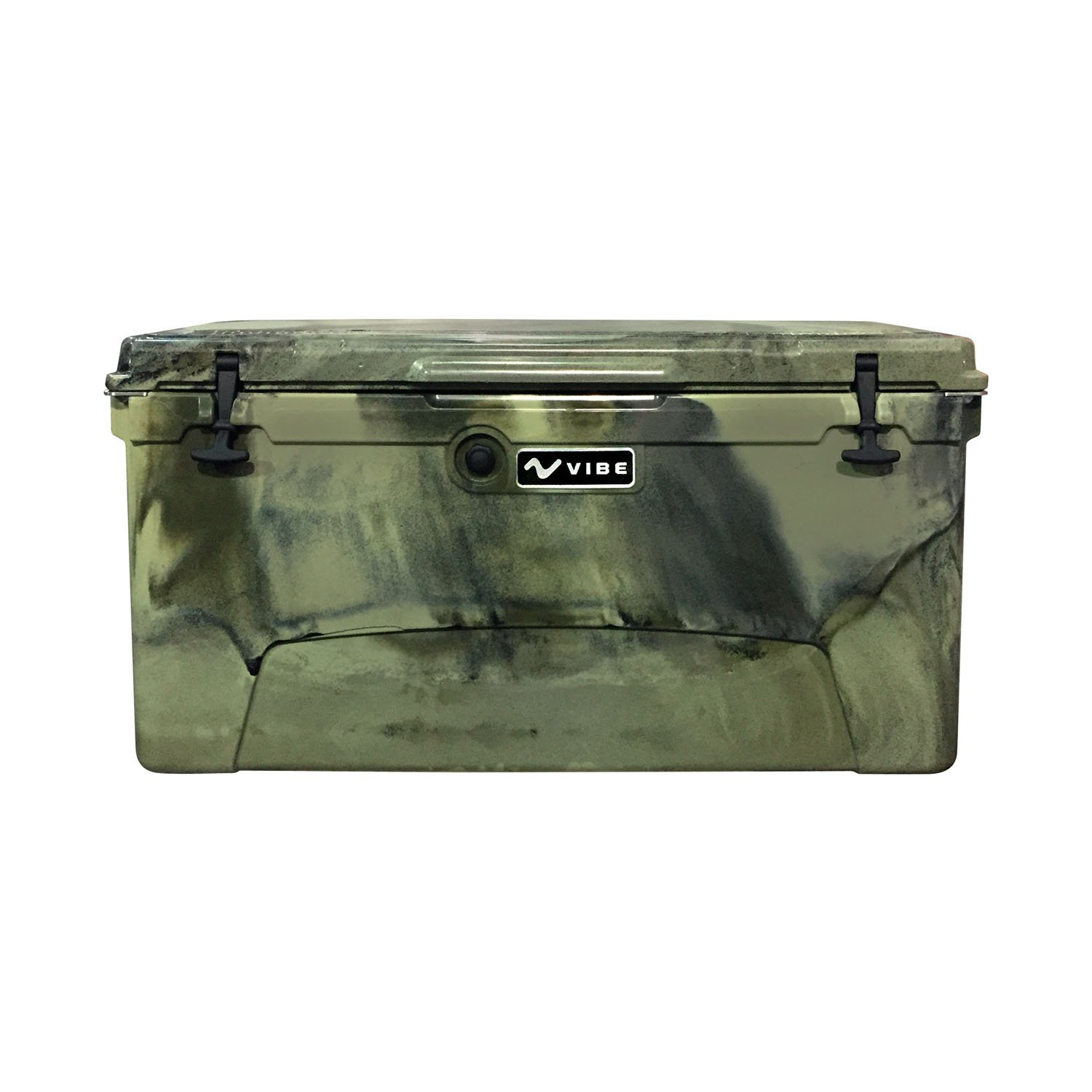Vibe Element 110 Quart Rotomolded Hard Shell Cooler with Bottle Opener, Hunter Camo by Vibe Kayaks