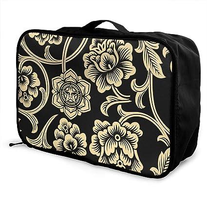424c1eed2e06 Amazon.com: Mintslove Fashion Portable Luggage Bag Artistic Floral ...