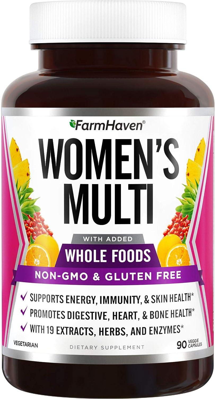 FarmHaven Multivitamin for Women | 22 Essential Nutrients, Fruits & Veggies Womens Multivitamin | Whole Food Multivitamin Boosts Energy, Immune, Heart Health | Womens Daily Vitamins - 90 Capsules