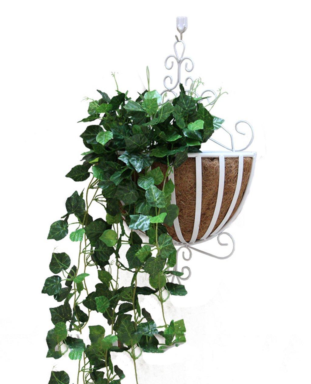 ZENGAI 植物スタンド2個、壁掛けフラワーポットラック吊り屋内バルコニーアイアンフラワーフレームは、盆栽フレームの壁に吊るす フラワースタンド ( 色 : C ) B07B6V38G7 C C