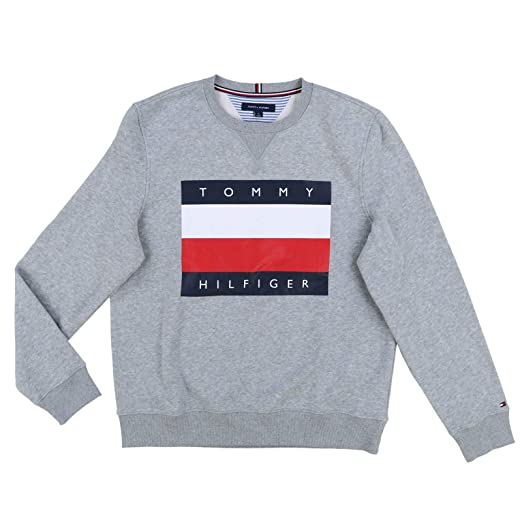 43b55614 Tommy Hilfiger Mens Pullover Big Flag Sweater at Amazon Men's Clothing  store: