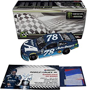 AUTOGRAPHED 2018 Martin Truex Jr. #78 Auto-Owners Team KENTUCKY WINNER (Raced Version with Confetti) Furniture Row Racing Signed Lionel 1/24 Scale NASCAR Diecast Car with COA (#075 of only 541)