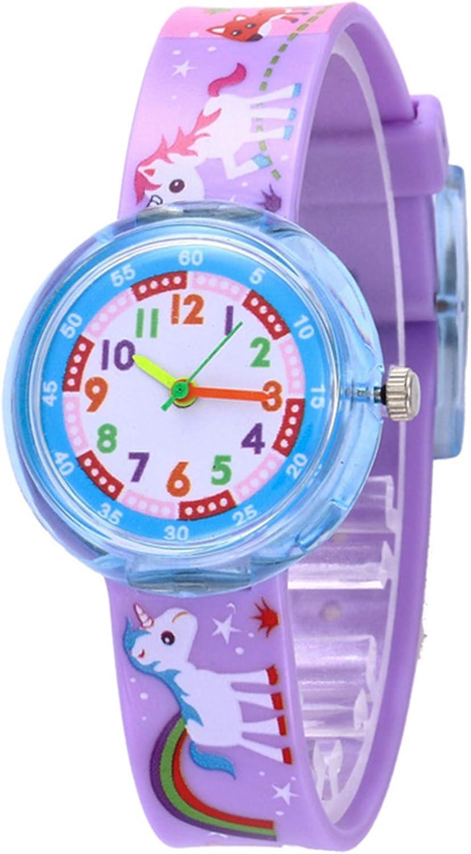 Relojes Niños Unicornio Sirena con Correa de Silicona Nylon