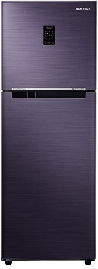 Samsung 253 L 2 Star Frost Free Double Door Refrigerator RT28K3722UT/HL, Pebble Blue, Convertible, Inverter Compressor  Refrigerators