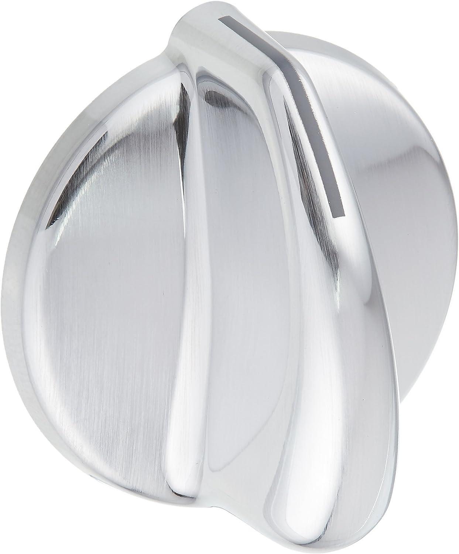 WB03X10317 GE Cooktop Knob Vent Tri-Chrome Pl