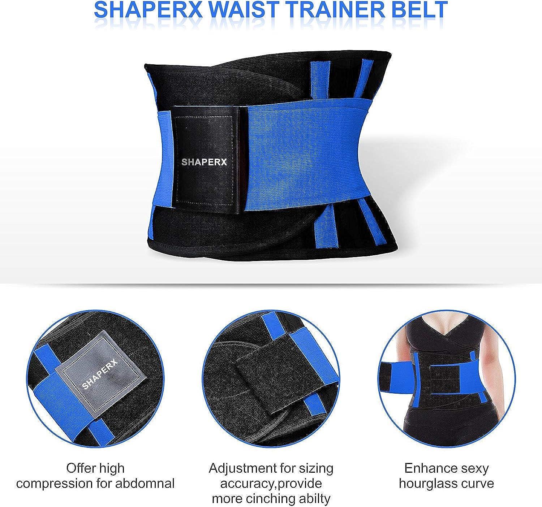 SHAPERX Damen Waist Trainer Bauchwegg/ürtel Sport Korsett Gurt Fitness Tailleng/ürtel