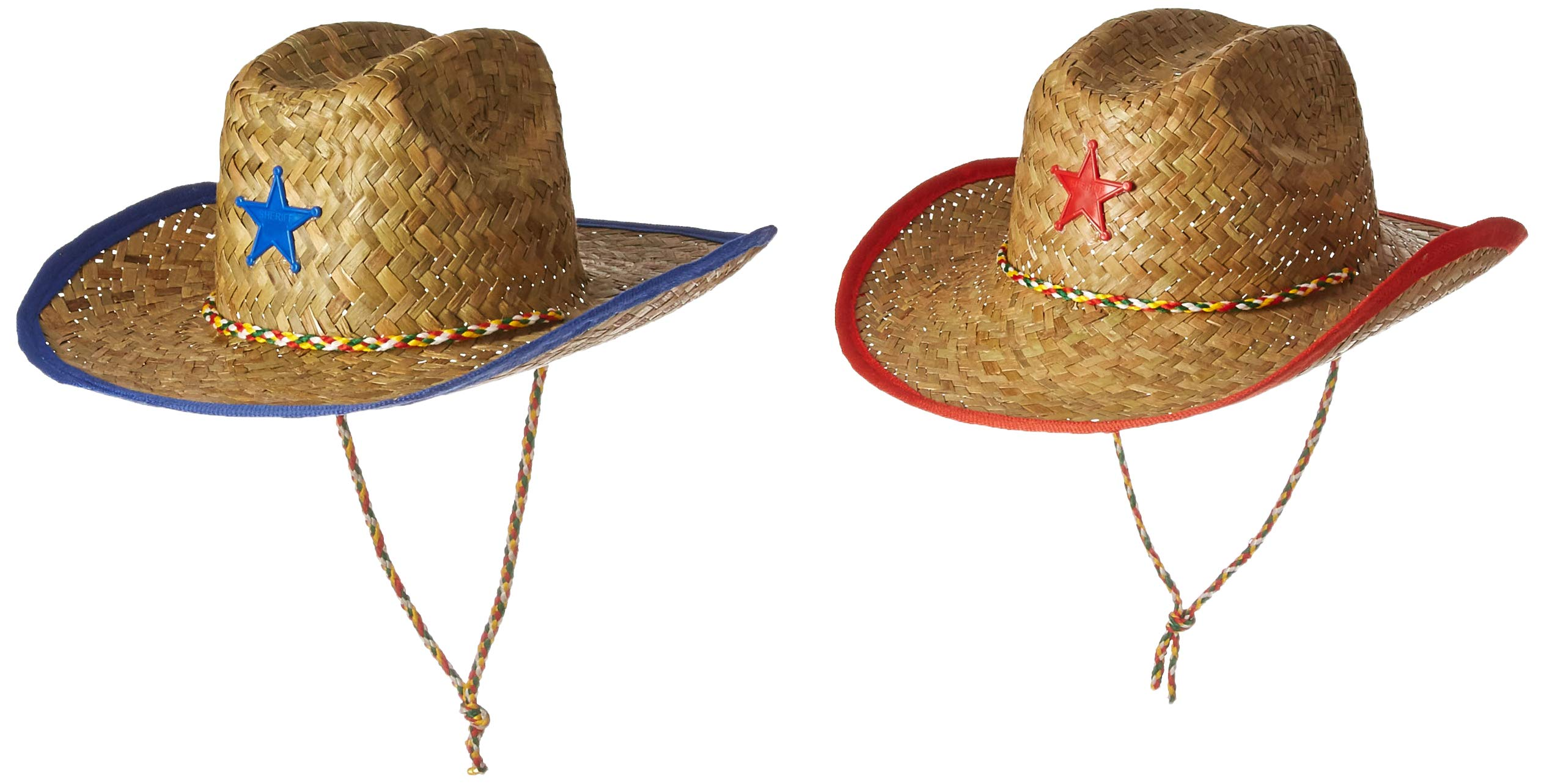 Amazon.com  Fun Express Childs Straw Cowboy Hat with Plastic Star - 12  Pieces  Toys   Games cac5846a1c4b