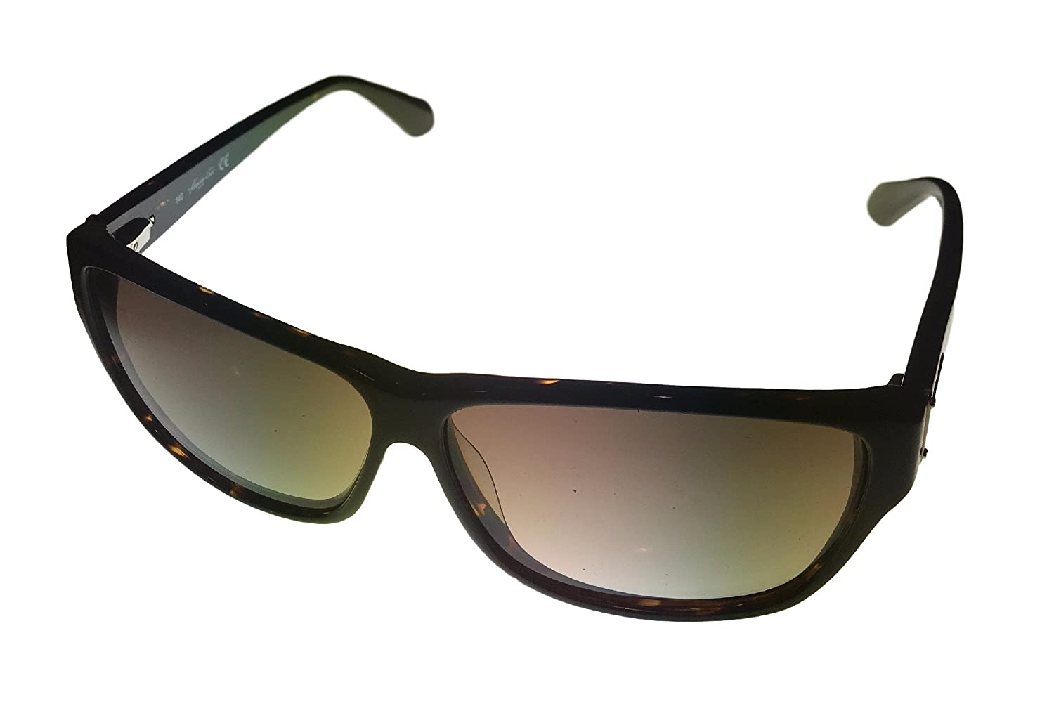 Kenneth Cole New York Mens KC7034 52F Rectangle Plastic Sunglasses,Shiny Dark Brown,