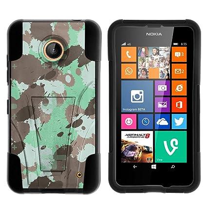 Amazon.com: Caso para Nokia Lumia 635/Nokia Lumia 630 Piel ...