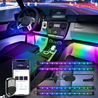 $31 » Govee Dreamcolor Car Interior Lights with APP and IR Remote, Upgraded 2-in-1 Design 4PCS 72…