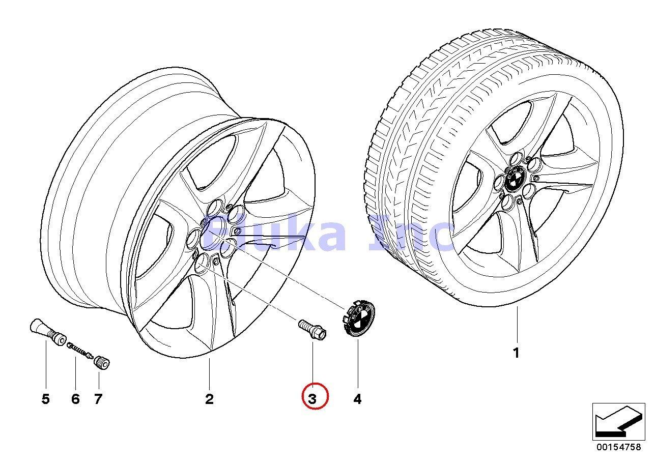 BMW Alloy Wheel Lug Bolt E70 E70N E71 E72 F01 F01N F02 F0 X5 3.0si X5 3.5d X5 4.8i X5 M X5 35dX X5 35iX X5 50iX X6 35iX X6 50iX X6 M Hybrid X6 740i 750i 750iX ALPINA B7 ALPINA B7X 740i 750i 750iX ALPINA B7 ALPINA B7X 740Li 750Li 750L Black 14 X 1.25 MM