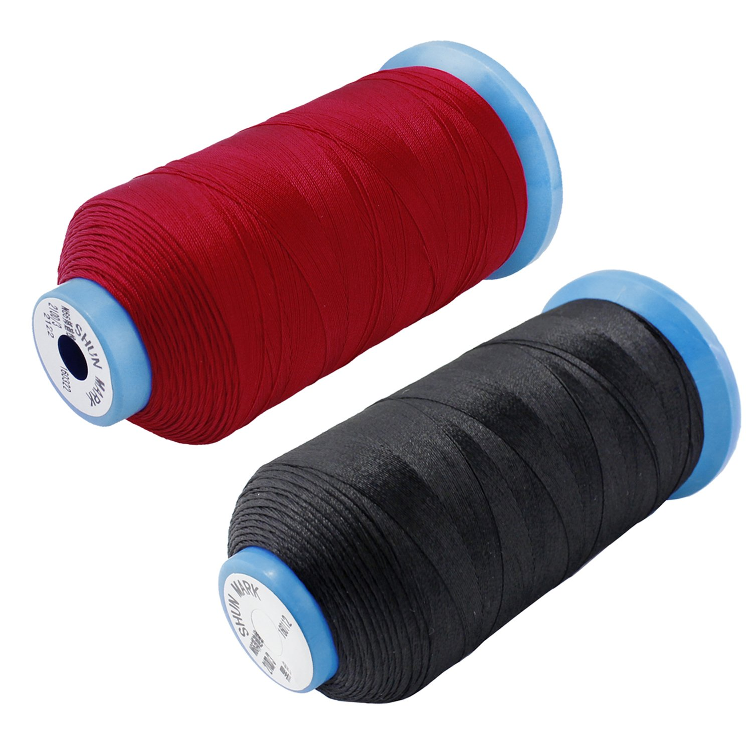 Black /& White PsmGoods/® Heavy Bonded Nylon Overlocker Thread Sewing Strong Thread for Sewing Machine Hand Stitching
