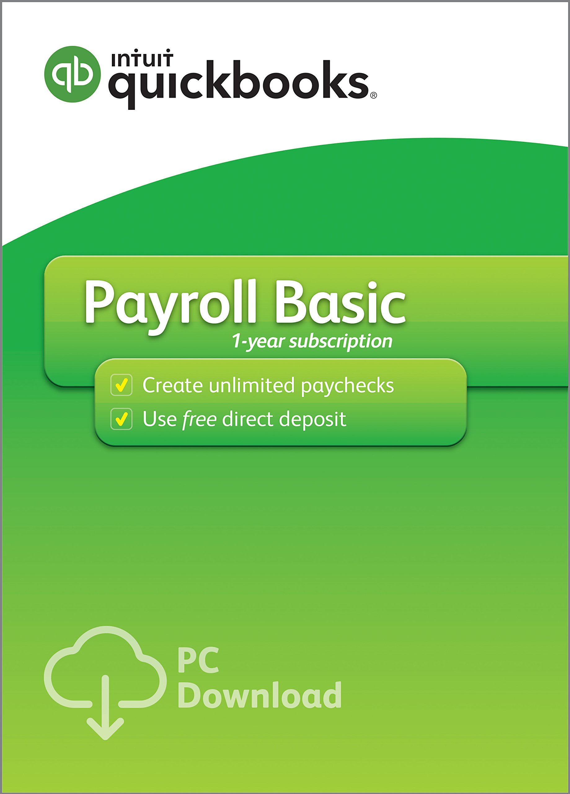 QuickBooks Desktop Basic Payroll 2019, 1 Year Subscription [PC Download] by Intuit