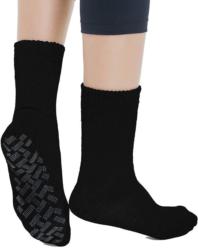 Keeps Feet Warm KaiYunSheng Yoga Socks Non-Slip Sports Socks 3 Pairs Cotton Socks with Anti-skid Grip Straps Ideal for Yoga Dance Pilates Fitness 35-41 Protects Against Bacteria