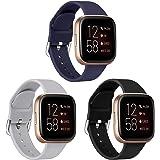 SPGUARD Strap Compatible with Fitbit Versa 2 Strap/Versa/Versa Lite/Versa SE,Soft Silicone Band Wristbands Strap Accessories for Women Men