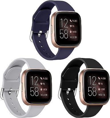 SPGUARD Compatible con Correa Fitbit Versa 2 Correas/Versa/Versa Lite/Versa SE, Accesorio de Pulsera de Repuesto de Silicona Suave para Fitbit Versa 2: Amazon.es: Ropa y accesorios
