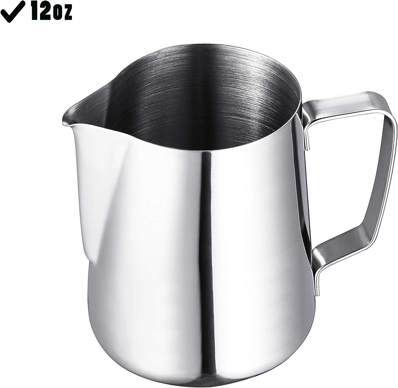 Brocca per schiumare il latte in acciaio inox 340 ml R.G Accessories