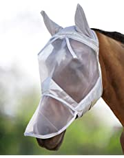 Harrison Howard CareMaster Fly Mask Full Face Moonlight Silver