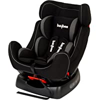 BAYBEE Grow and Go 2-in-1 Convertible Black Baby Car Seat, for Kids, 0-7 Years