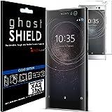TECHGEAR [confezione da 3] Sony Xperia XA2[Ghostshield Edition] Genuine rinforzato TPU proteggischermo copre con schermo intero copertura con schermo curvo superficie [3D curvo protezione bordi]