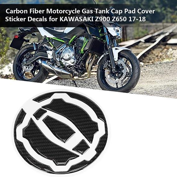 Motorrad Tank Aufkleber Kohlefaser Motorrad Tankdeckel Pad Aufkleber Aufkleber Für Z900 Z650 17 18 Auto