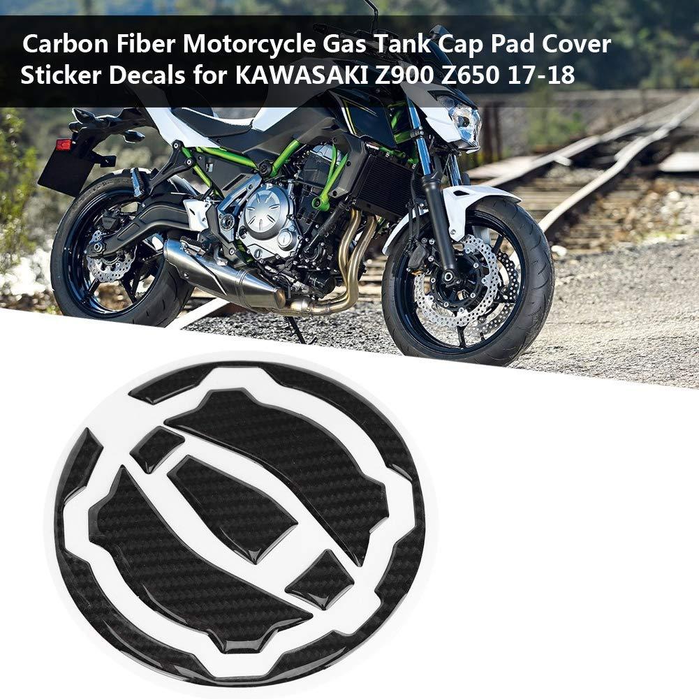 Fydun fibra de carbono, tapa de cobertura para Z900 Z650 2017-2018 Dep/ósito de gasolina para moto