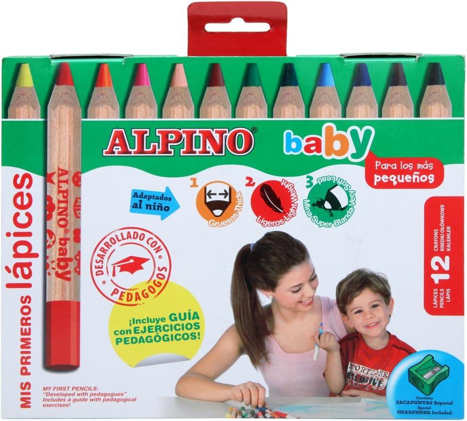 Alpino AL000177 - Estuche 12 lápices: Amazon.es: Oficina y papelería