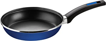 Monix M300020 Braisogona Cobalto Stainless Steel Non-Stick Frying Pan, 20 cm, Blue