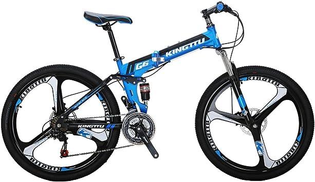 Amazon.com: EUROBIKE Kingttu G6 - Bicicleta de boca, 21 ...