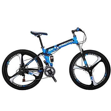 Eurobike G6 - Bicicleta de montaña con marco de aluminio, 21 velocidades, 3 radios