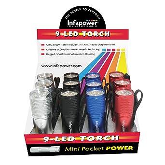 Lampes Mini 9 Led 12 Infapower De Poche F006 Lot k8nN0wPXO