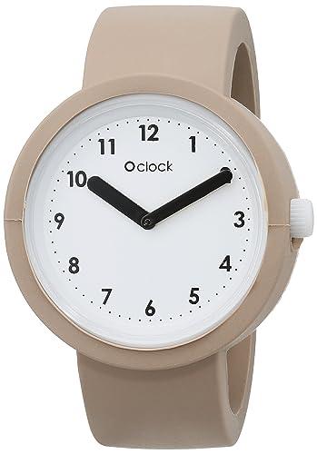 Fullspot O clock OCNW05-X - Reloj analógico de cuarzo unisex, correa de silicona