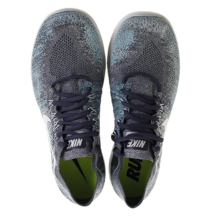 premium selection ce84a f4466 Nike Men s Free RN Flyknit 2017 Running Shoe Blue Fox Pure Platinum-Wolf  Grey-White 8.5  Buy Online at Low Prices in India - Amazon.in