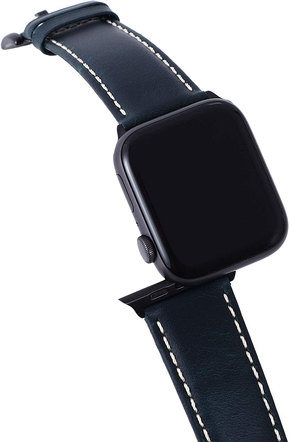 Retro Discoloured Leather Bands for Apple Watch Band 44mm 42mm for Men, Sports Replacement Strap Compatible with iWatch SE Series 6 5 4 3 2 1