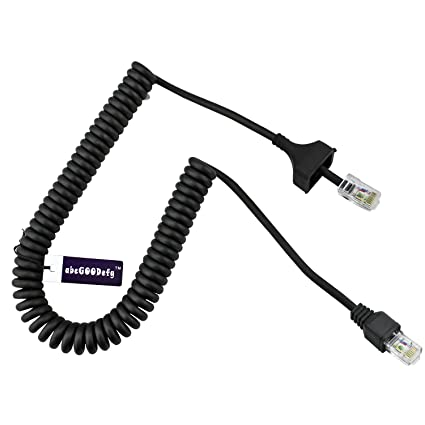 Amazon.com: abcGOODefg 8 Pin Replacement Microphone Cable Coiled ...