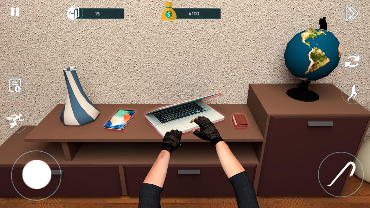 simulador virtual de robo de ladrón - juegos de robo de