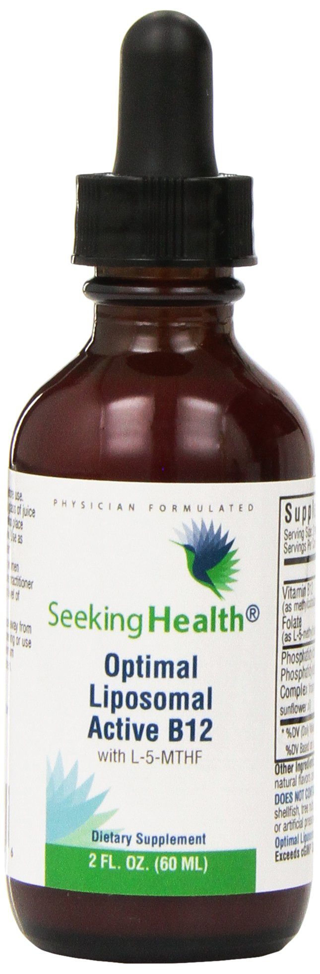 Liposomal B12 | Optimal Liposomal Active B12 With L-5-MTHF | Non-Soy | Non-GMO | Seeking Health