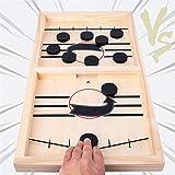 Fast Sling Puck Game, Table Desktop Battle Ice Hockey Game/Winner Board Games, Desktop Sport Board Game for Family Game Night